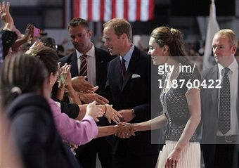 CULVER CITY, CA - JULY 10: Prince William, Duke of Cambridge and Catherine, Duchess of Cambridge attend the Mission Serve: Hiring Our Heroes event on July 10, 2011 in Culver City, California.