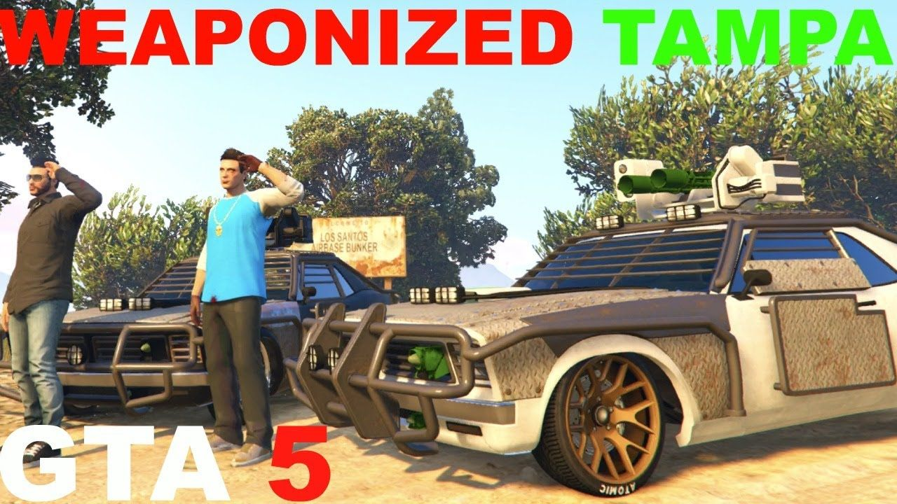 GTA 5 WEAPONIZED TAMPA ALL UPGRADES GUNRUNNING DLC | GTA 5