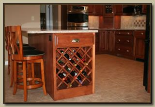 kitchens with wine racks in end cabinets | add a wine rack to the