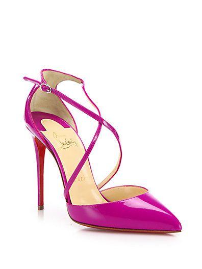 CHRISTIAN LOUBOUTIN Blake Patent Leather Crisscross Sandals
