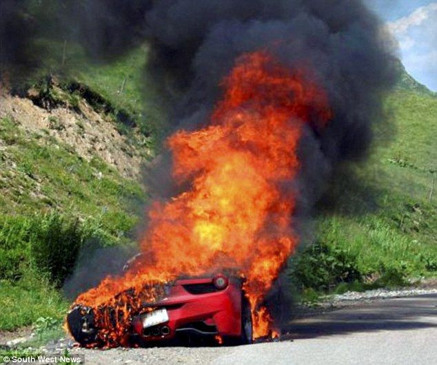 Eric Clapton Ferrari Wrecked Eric Clapton Ferrari Wreck Car Crash Super Cars Car Humor