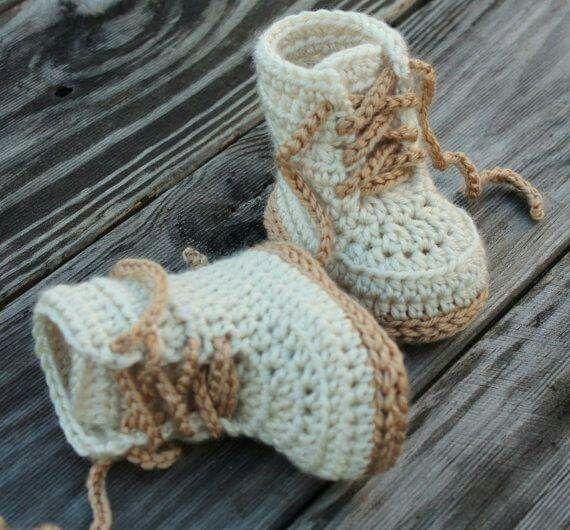 Baby Boots Crochet Kreatv Hobbi Pinterest Crochet Baby