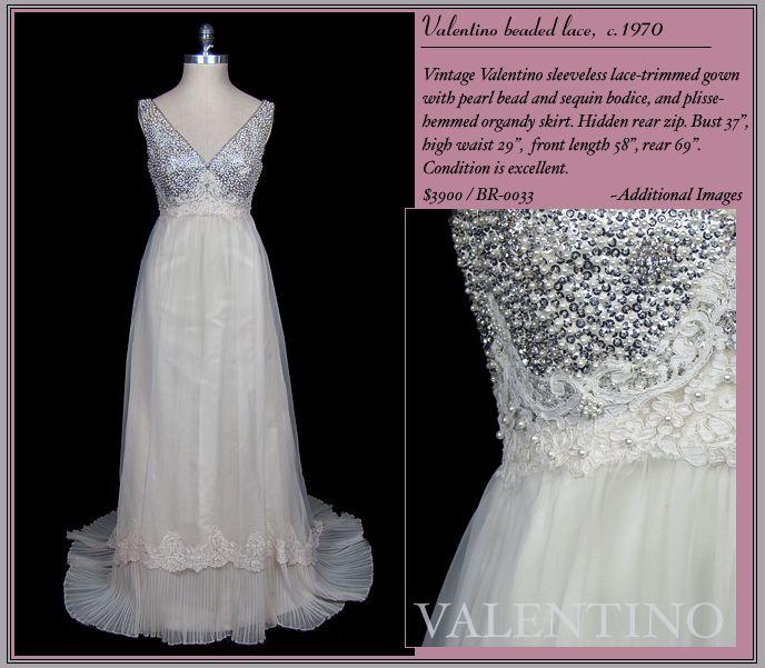 A Surprisingly Modern Looking Vintage Valentino Bridal Vintage