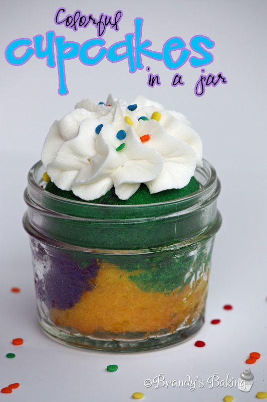 Brandy's Baking: Colorful Cupcakes in a Jar