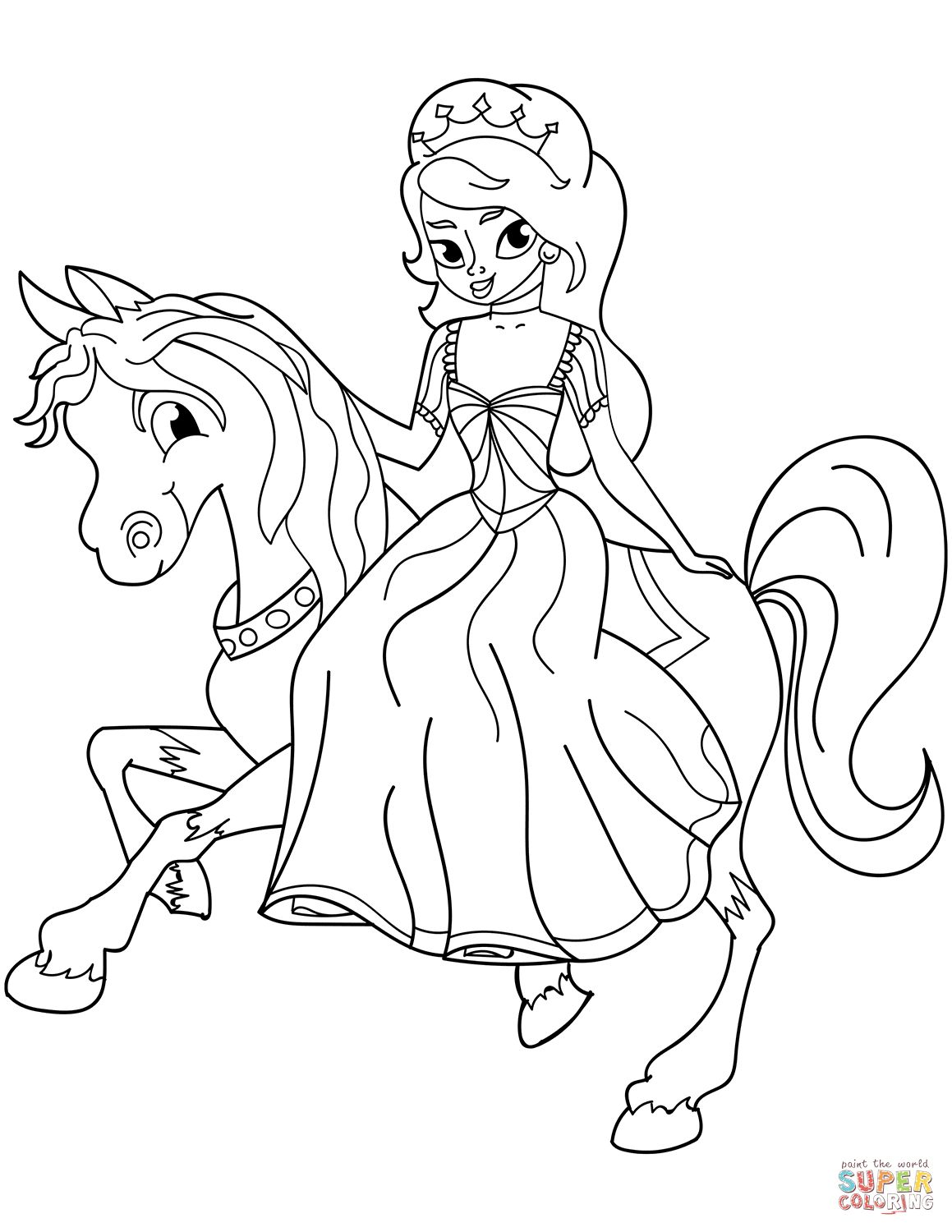 30 Great Picture Of Princess Coloring Page In 2020 Princess Coloring Pages Horse Coloring Pages Princess Coloring