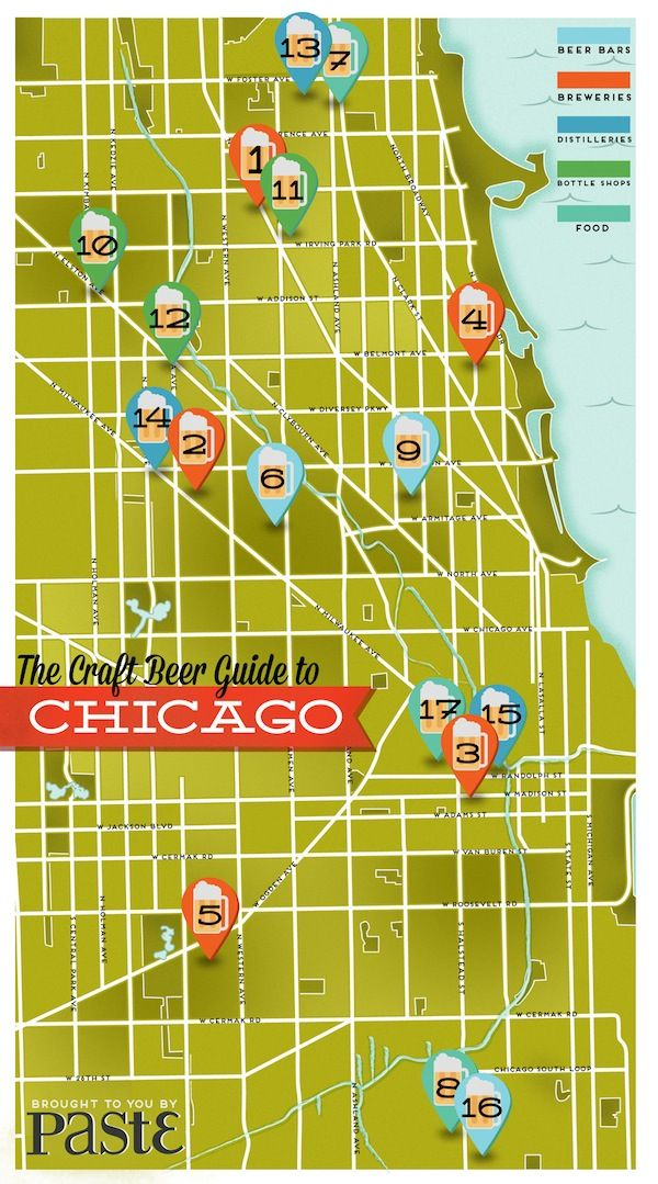Chicago Brewery Map on