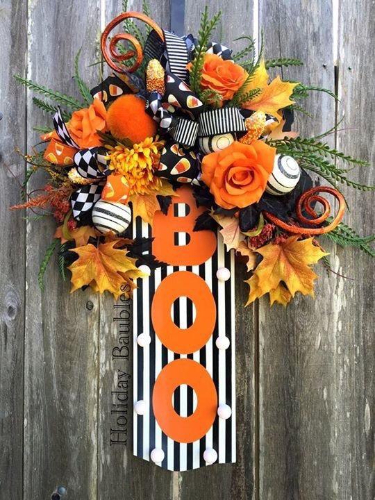 BOO PreLite Sign, BOO Door Hanger, Halloween Decor