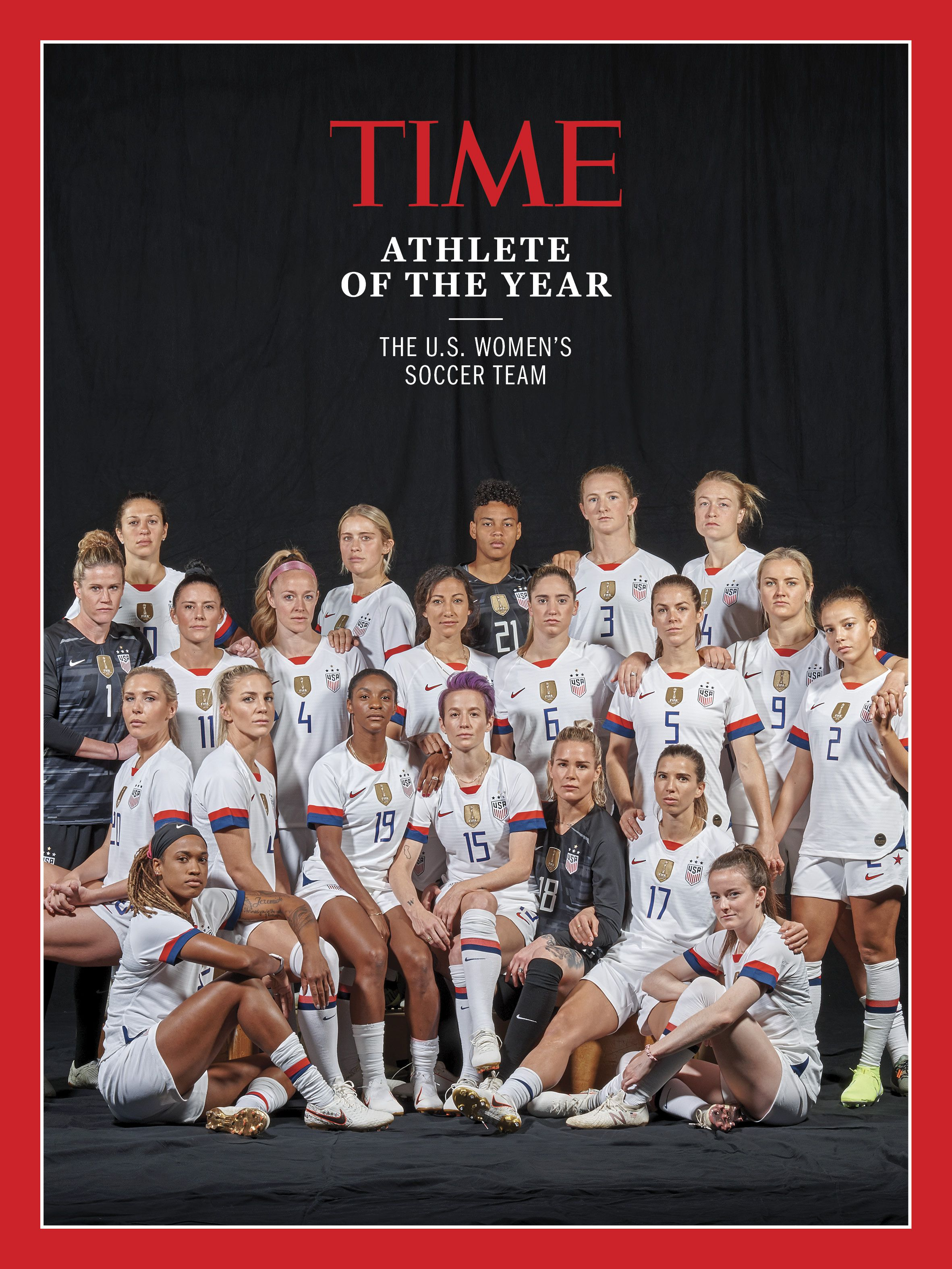 U S Women S Soccer Team Time S Athlete Of The Year 2019 Time In 2020 Us Women S National Soccer Team Usa Soccer Women Women S Soccer Team