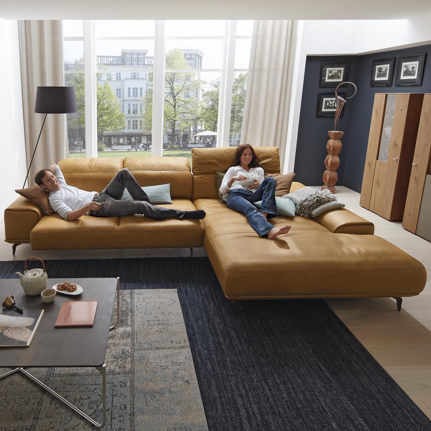 Musterring Leder Wohnlandschaft Mr 2490 In Braun Living Room