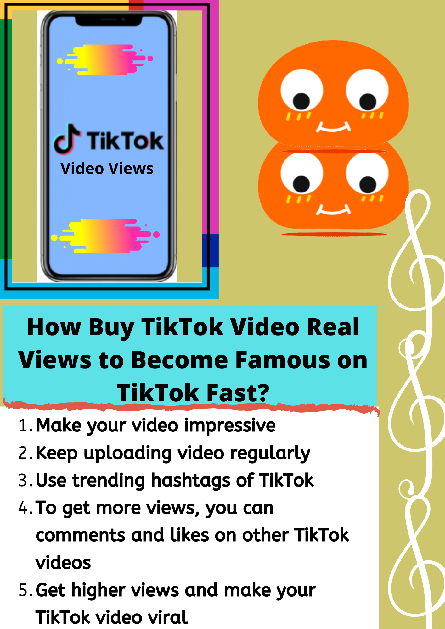 How Buy Tiktok Video Real Views To Become Famous On Tiktok Fast In 2020 Video Trending Hashtags Stuff To Buy