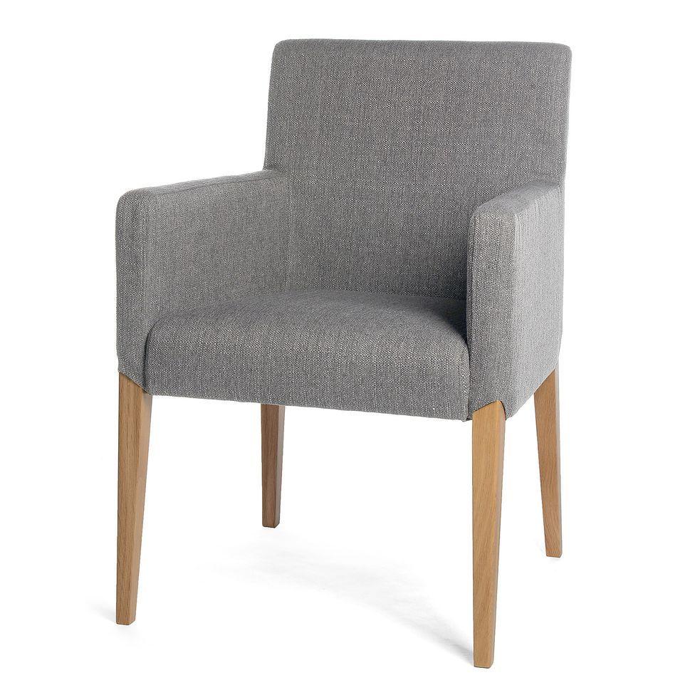 Stuhl mit Armlehne, B48cm x T49cm x H49cm, grau, grau