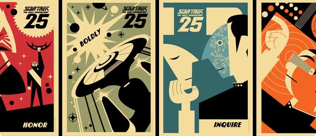 Star Trek: TNG 25th Anniversary Posters