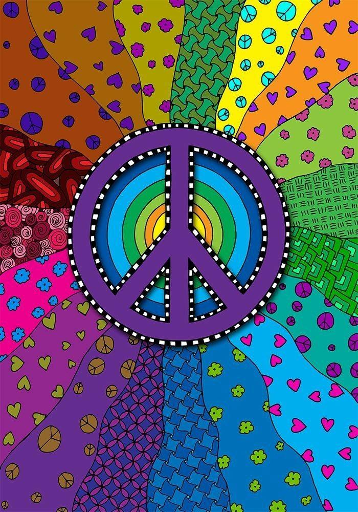 LOVE💜 💜 PURPLE 💜 | Peace sign art, Hippie wallpaper ...