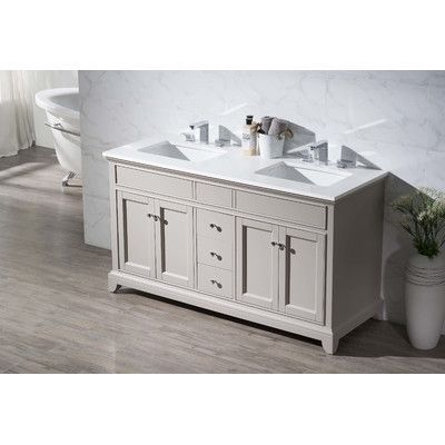 Home Loft Concepts Arianny 59 Quot Double Sink Bathroom Vanity