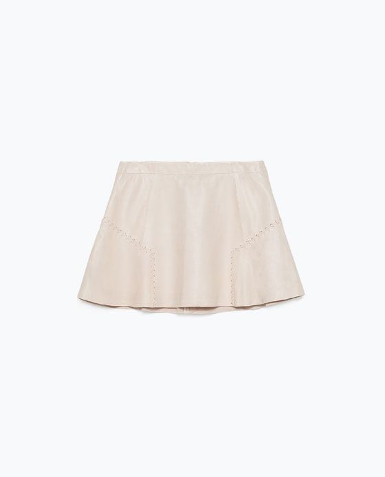 Image 7 of LEATHER SKIRT from Zara