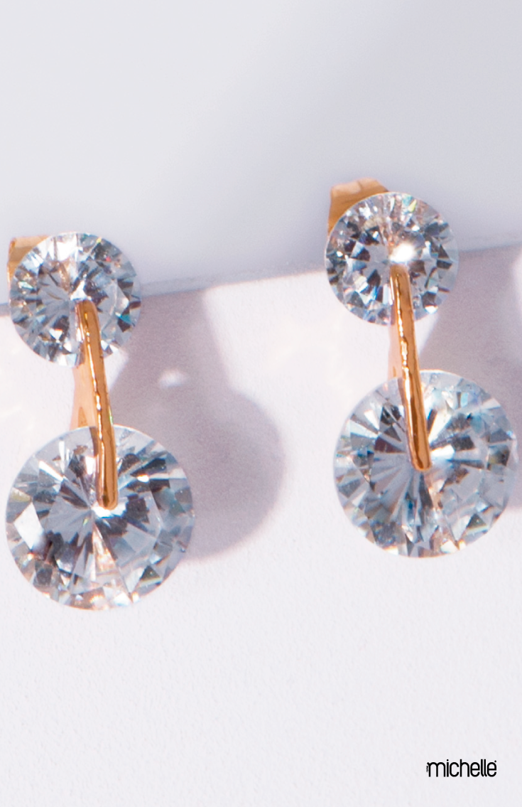3120be3ad377  Aretes con doble piedra