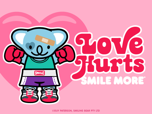 Love Hurts | Smiling Bear®  free ecard cute kawaii