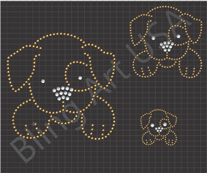 Dog Rhinestone Download Files Template Puppy Bling Pet Art Animal SVG PLT EPS…