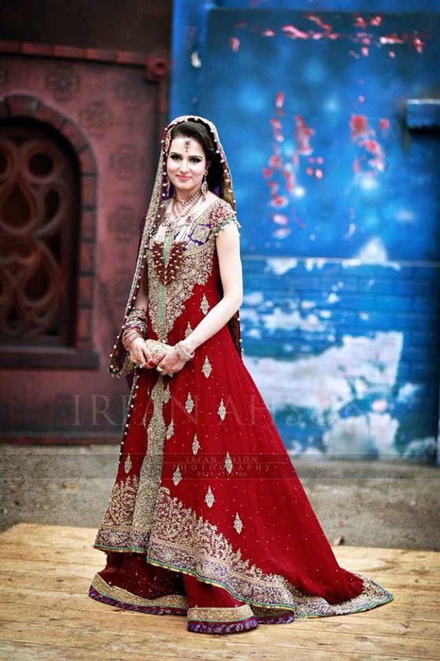 Beautiful Red Pakistani Bridal Dress