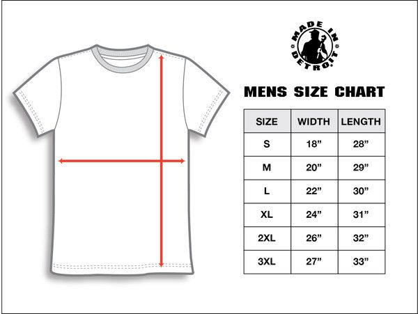 t shirt size chart for men: Mens size chart google search dress for success men
