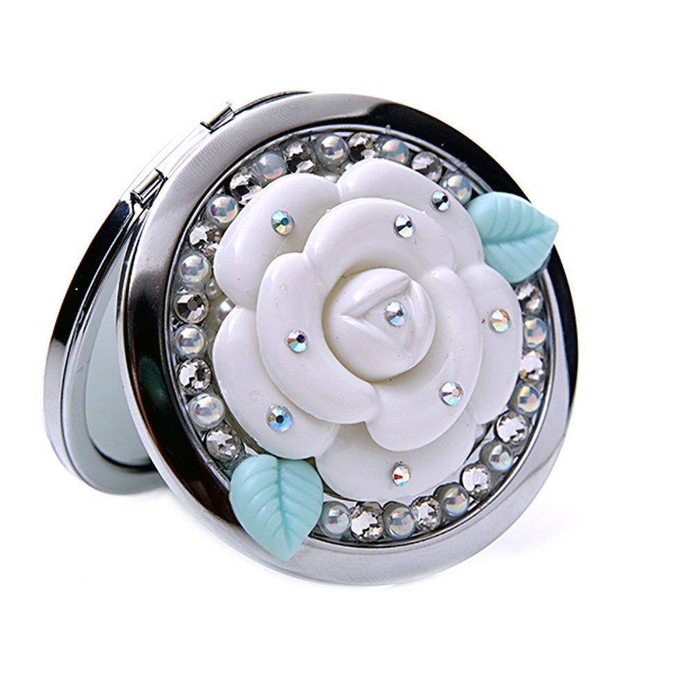Diy Crystal Flower 7 7 1cm Make Up Cosmetic Mirror Or: Amazon.com : Generic Foldable 3D Handmade Compact Personal