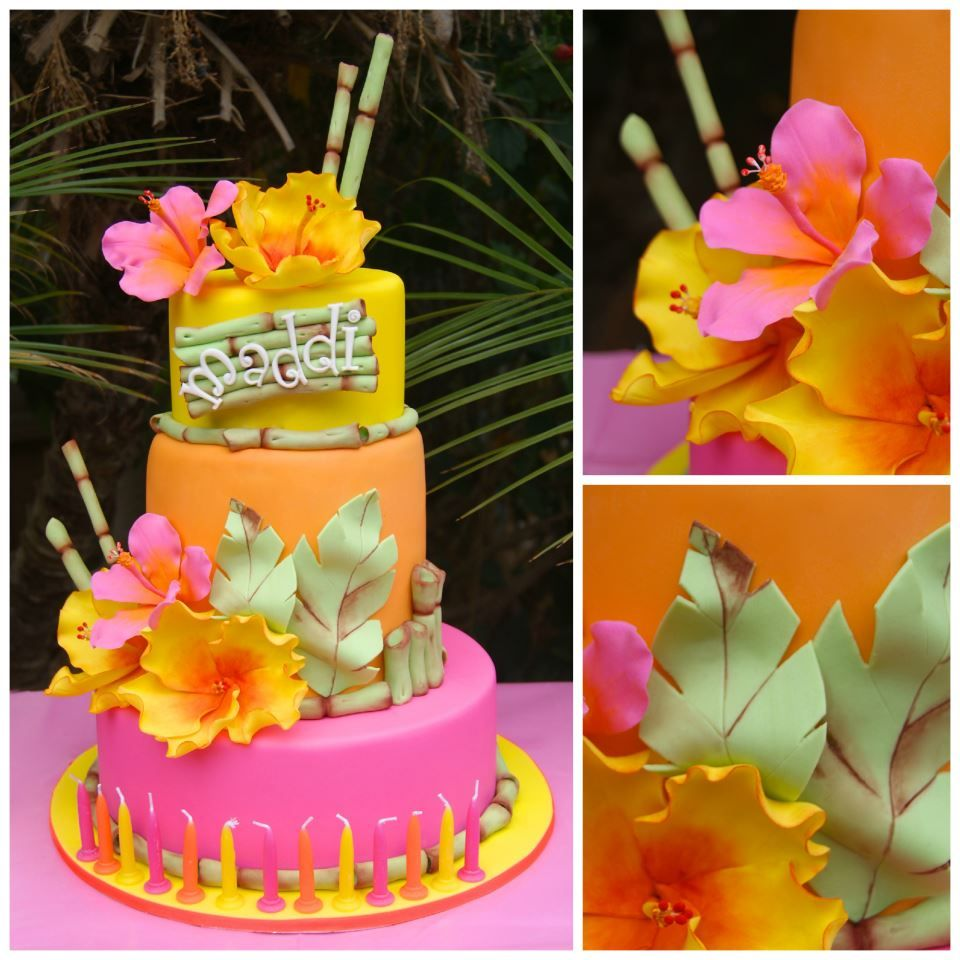 Tropical Birthday Cake By Calamity Cakes Cakes Cakes More