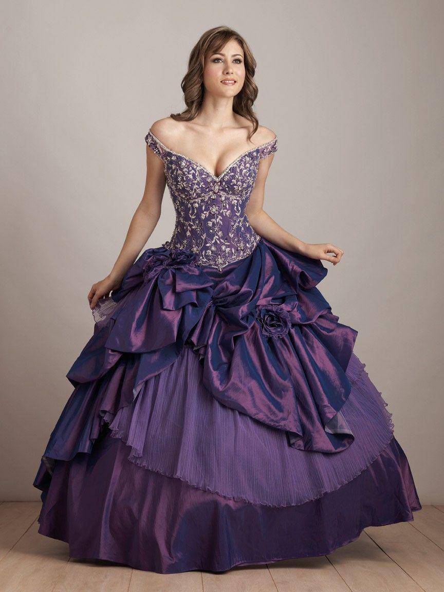 Elegantly Different With Purple Wedding Dress Elegant