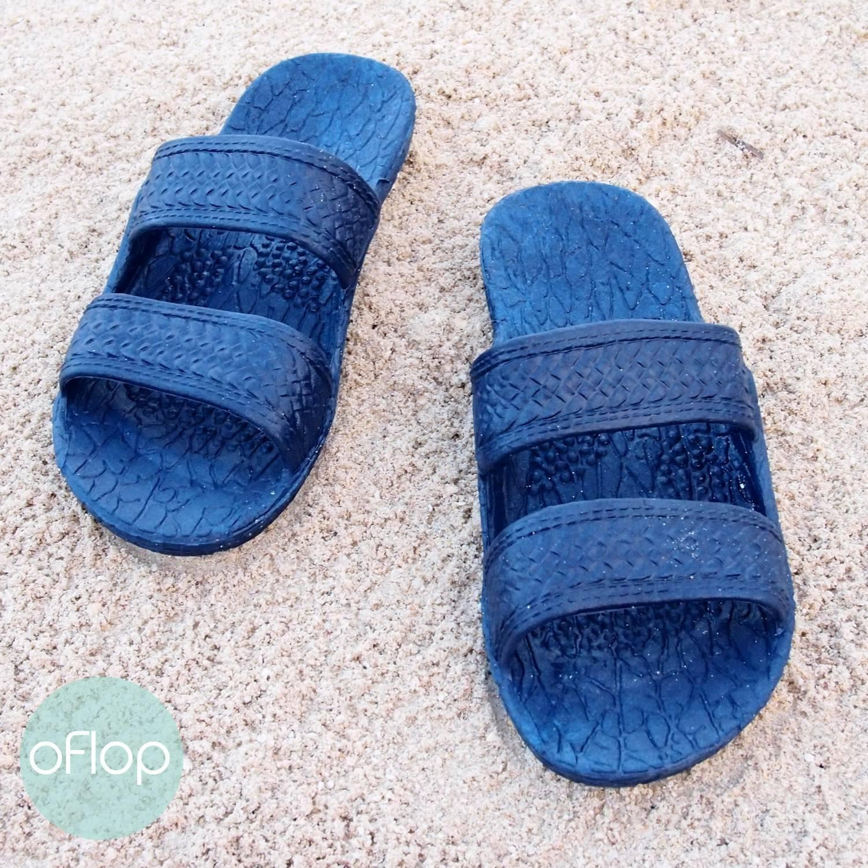 4052c88982b4f Navy Blue Kids Jandals ®-- Pali Hawaii Hawaiian Jesus Sandals ...