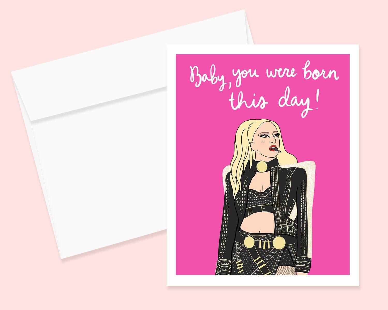 Lady Gaga Birthday Card Birthday Greeting Lady Gaga Fan Birthday Card Best Friend Birthday Card Lady Gaga Birthday Funny Valentines Cards Lady Gaga