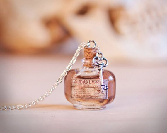 Jewelry Finding Steampunk Amber Poison Bottle Charms