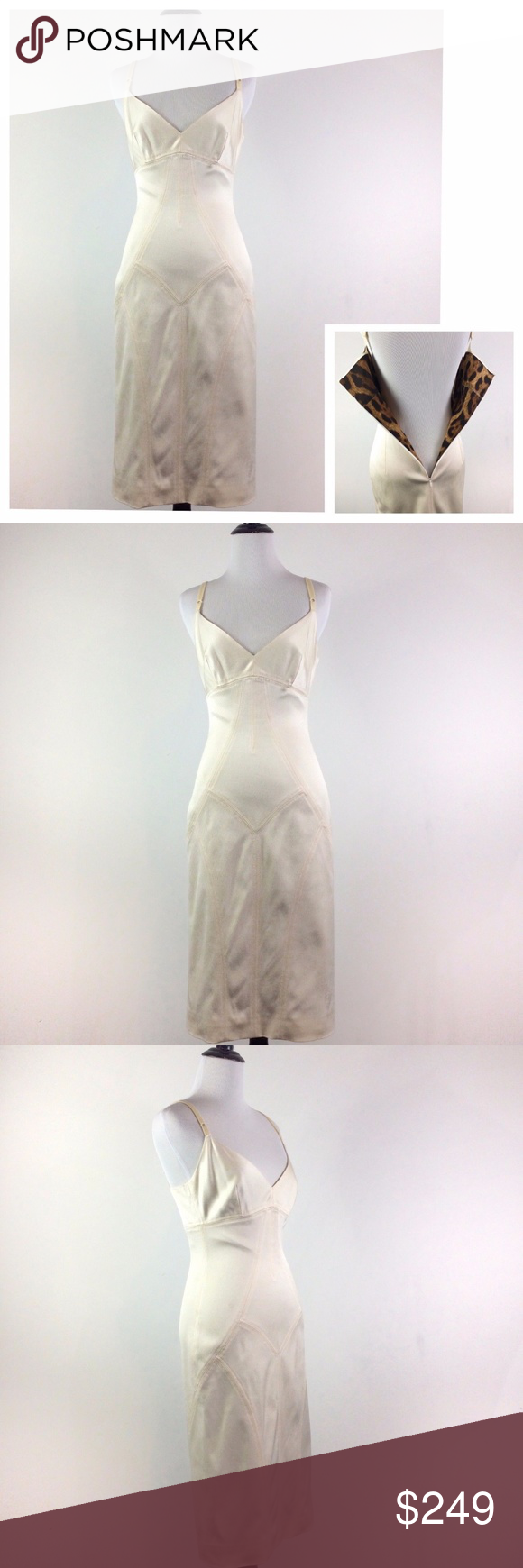 Sold Dolce Gabbana Cream Stretchy Bodycon Dress Stretchy Bodycon Dress Dresses Dolce And Gabbana [ 1740 x 580 Pixel ]