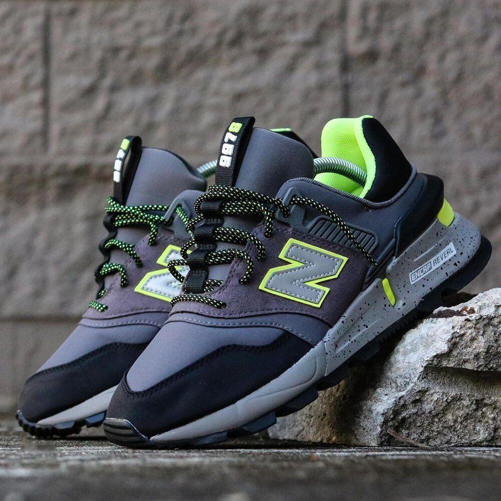 New Balance 997 Sport Grey Neon Sale Price 67.50