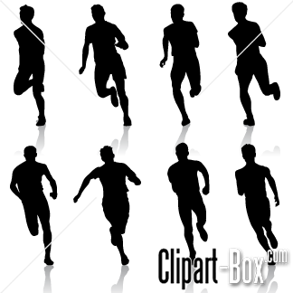Clipart Man Running Front View Royalty Free Vector Design Running Silhouette Silhouette People People Walking Png