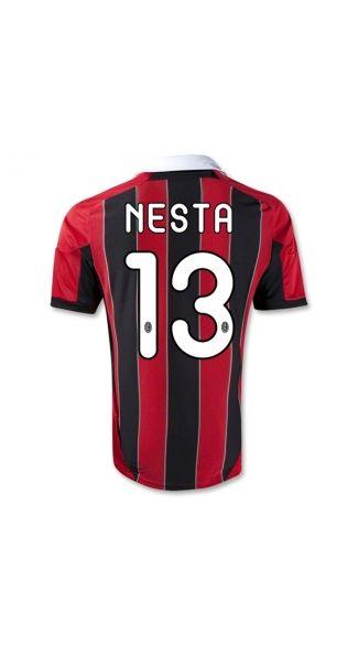 c81fa62197e best quality ,discount 50%,12/13 ac milan nesta 13 home team football shirts ,football shirt shop,ac milan shirts,t shirt milan,football shirt 12 13,best  ...