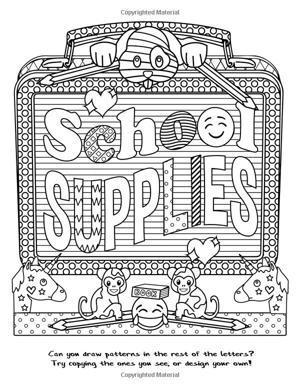 The Amazing Emoji School Coloring Book 24 Page Coloring Book Dani Kates 9781535420587 Amazon Com B Emoji Coloring Pages Cute Coloring Pages Coloring Books