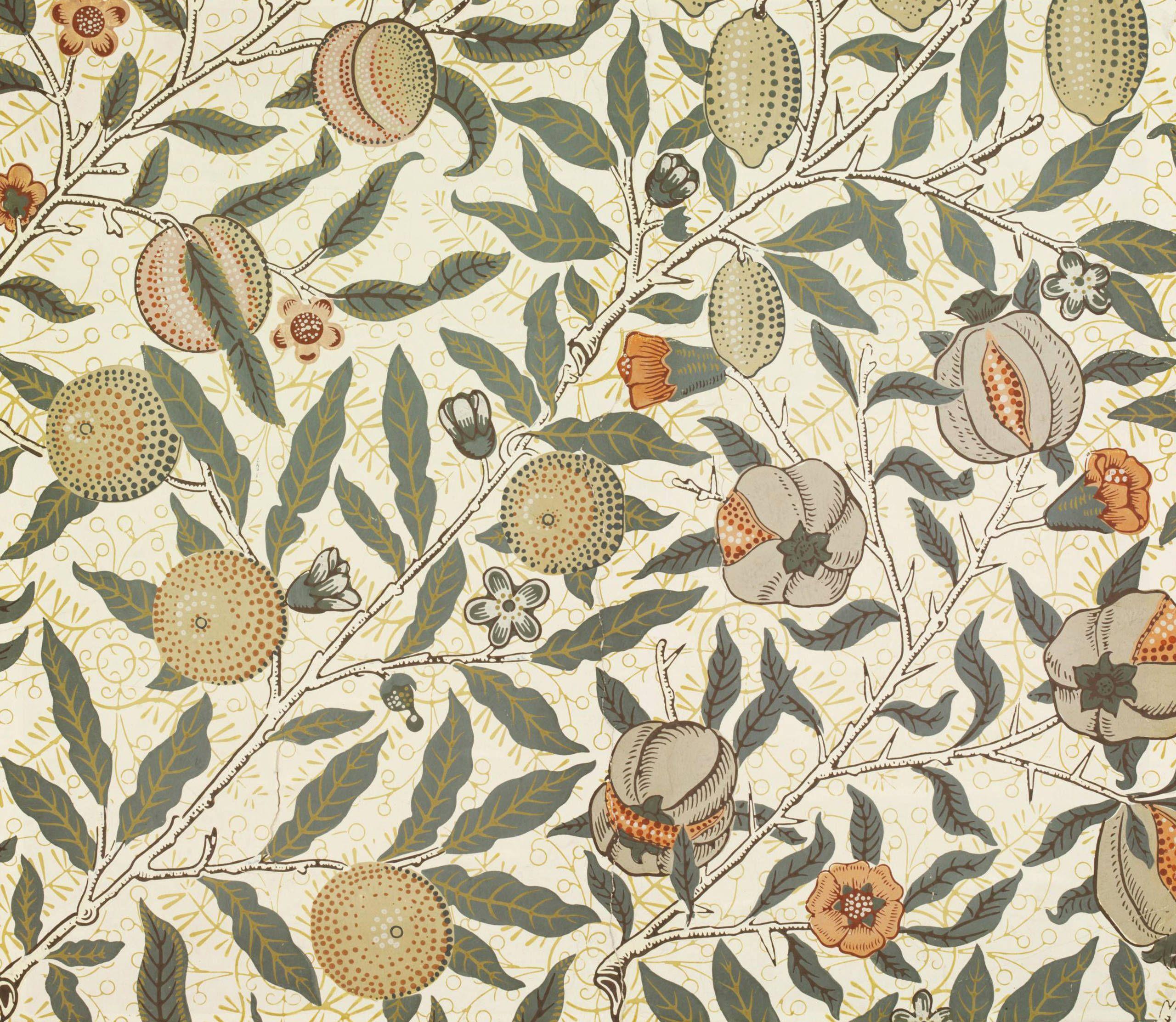 8.fruit.2008bt7198 2500   William morris wallpaper, Morris ...