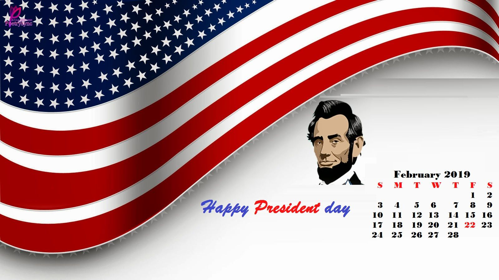 February 2019 Desktop Calendar Happy Presidents Day Desktop