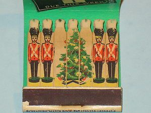 "Nice Unused ""Feature Matchbook"" Santa Says' Christmas Club Bank Richmond In 