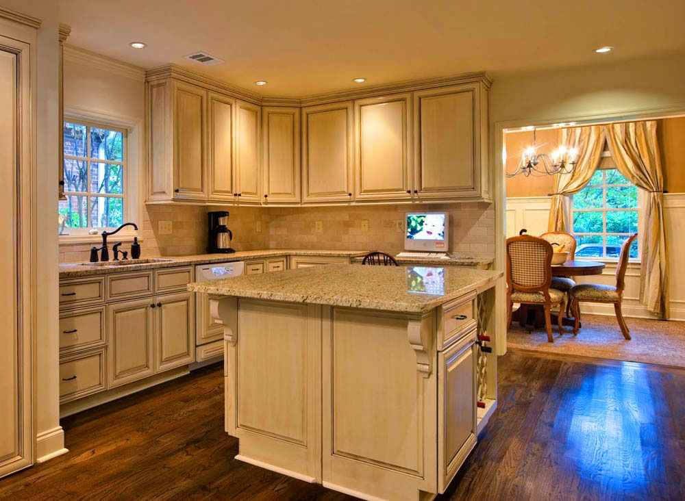 Glazed White Cabinet & Dark Floor Is This Glazing Too Much For You Endearing Refinishing Kitchen Cabinets 2018