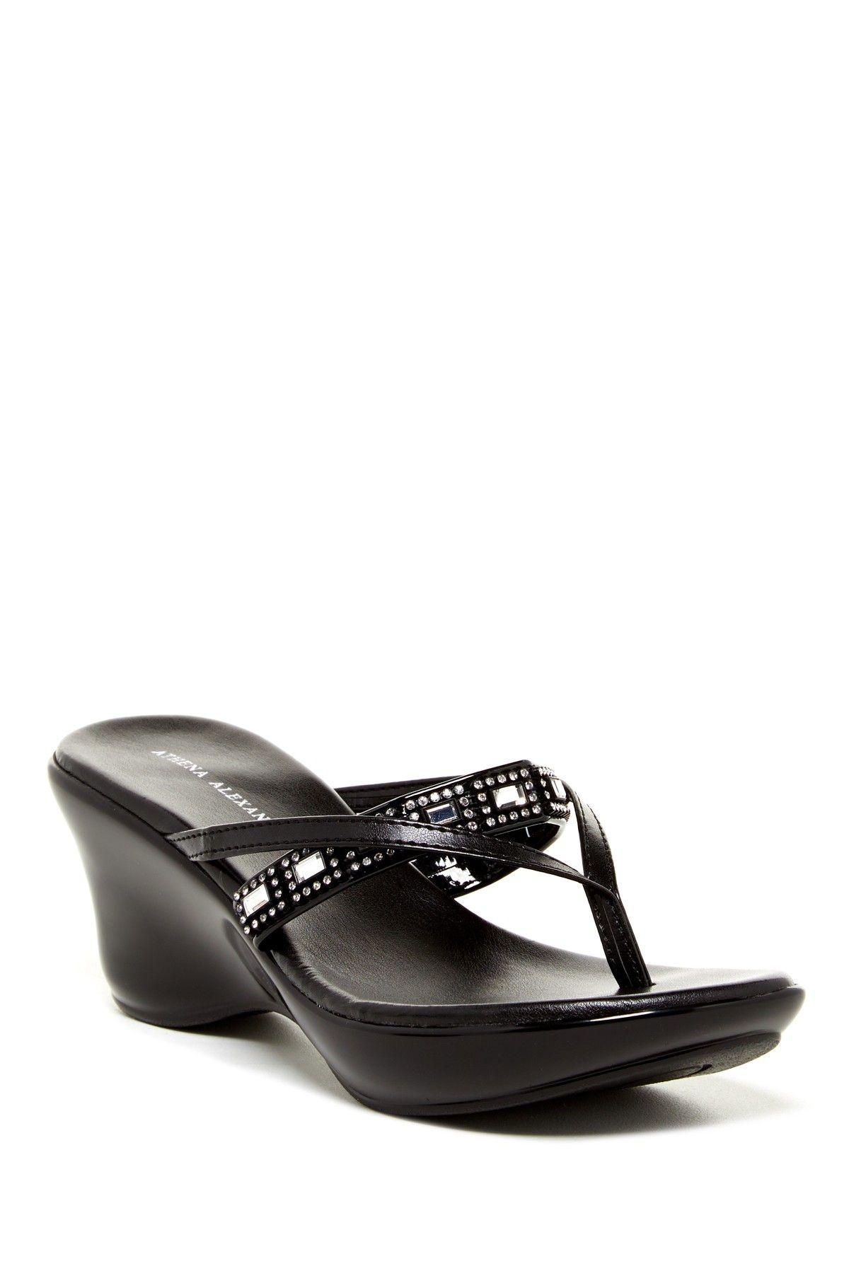 23efaa8bcc0c Jimmy Wedge Sandal by Athena Alexander on  nordstrom rack Black Flip Flops