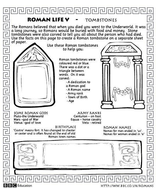 worksheet_tombs gif | Teaching - Latin | Worksheets