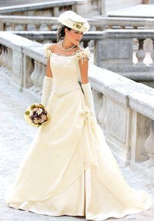 Magnifique Robe de mariée champêtre ivoire