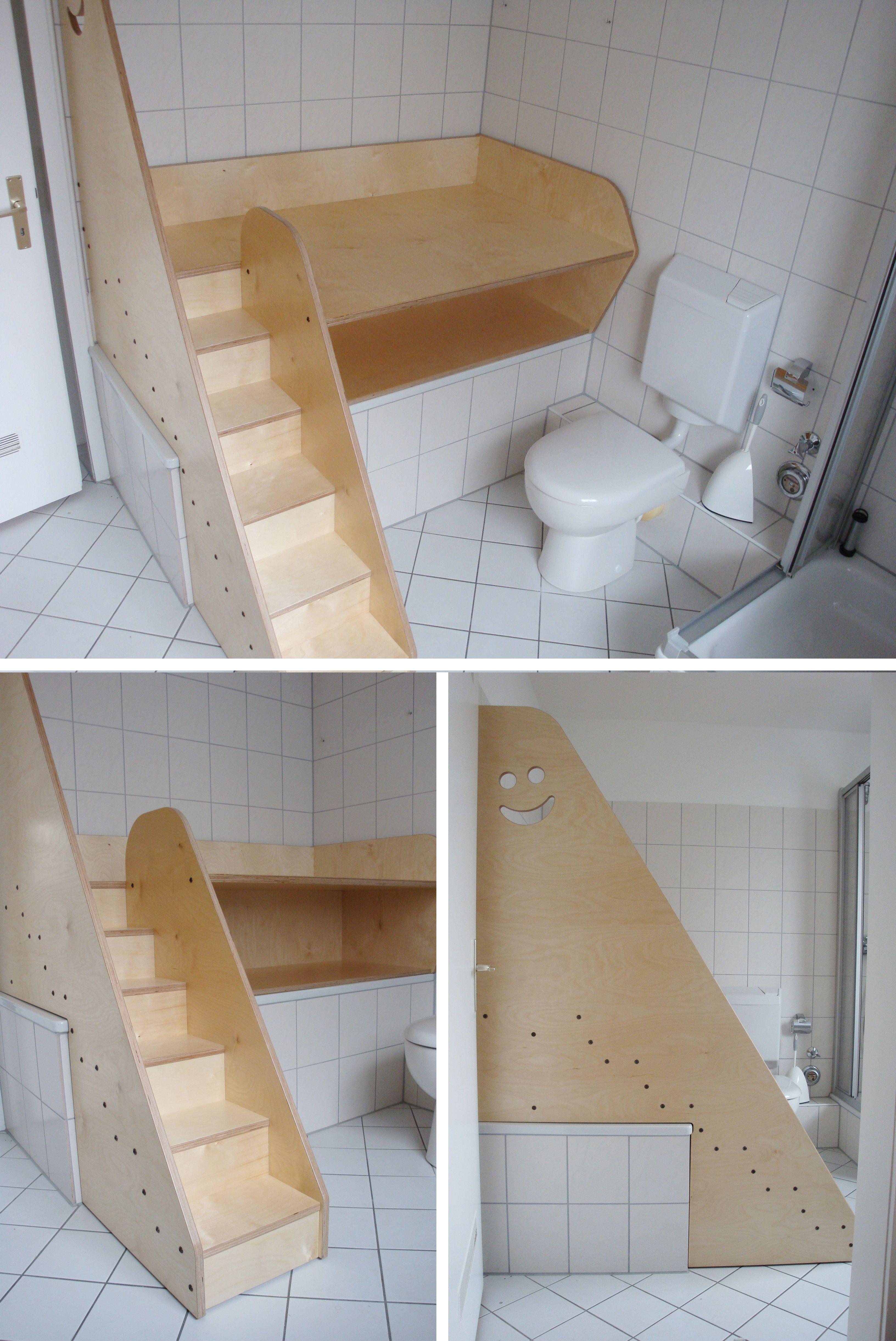Wickelkommode für Badewanne mit der Treppe für di… | Kindergarten ...
