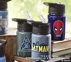 Super Hero Water Bottles Pottery Barn Kids Pottery