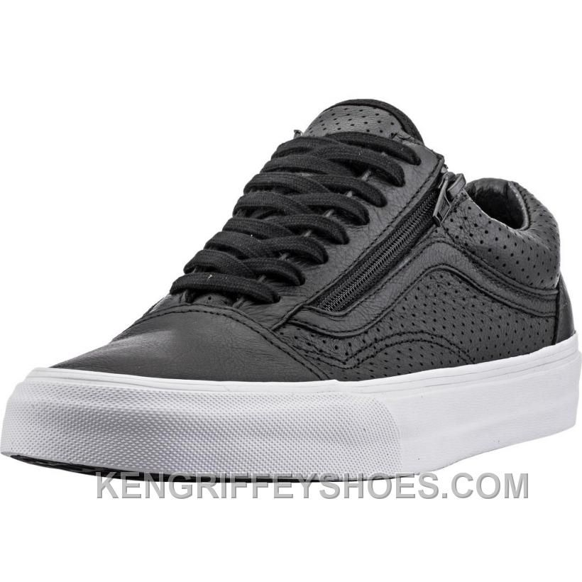 bfce781a57168 Vans Perforated Leather Old Skool Zip (Mens) - Black Ffh5M | vans ...