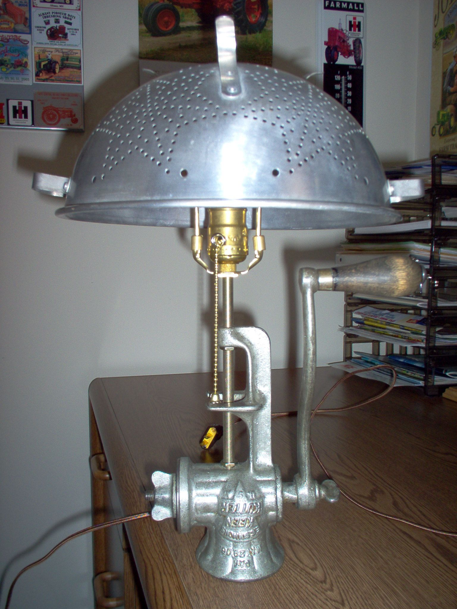 High Quality I Like Making Table Lamps From Vintage Meat Grinders. I Use Old Star  Colanders For