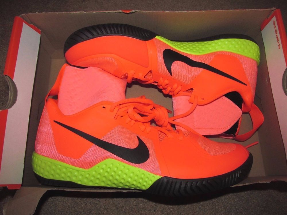 b6c083f478115 Nike Flare Womens Tennis Shoes 8 Lava Glow Black Orange Volt 810964 600  Serena  Nike  Tennis