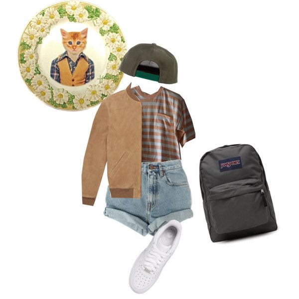 Dennis by koolaid-kid on Polyvore featuring Levi's, NIKE, JanSport, A.P.C. and Beat Up Creations