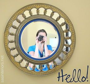 upcycled clock turned sunburst mirror, crafts, garages, repurposing upcycling, Well hello there new sunburst mirror