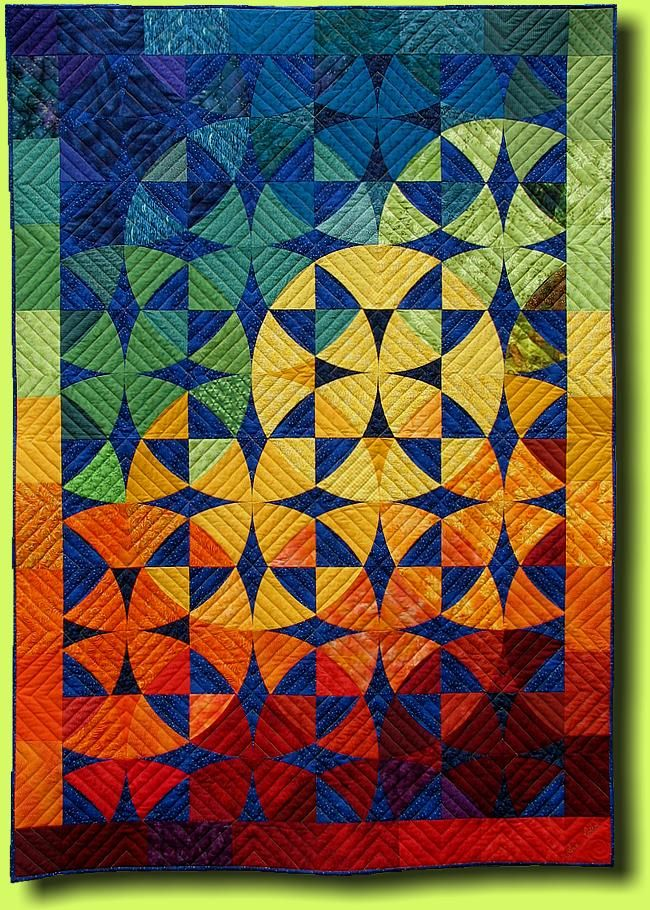 """Ann-Kathrin (2006) by Regina Grewe (Germany): """"Since this quilt, sewing curves without pinning has not been a problem"""""""